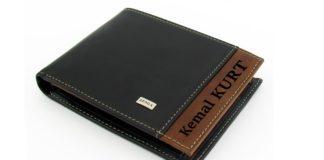 kişiye özel erkek deri cüzdan