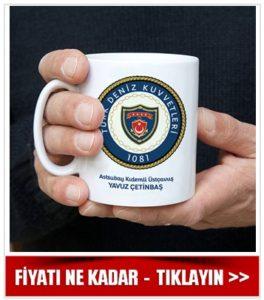 Deniz Kuvvetleri Komutanlığı Amblemli Kupa Bardak