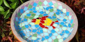 El Yapımı Mozaik Fayans Çömlek