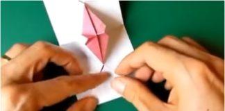 öpücük kartı origami nasıl yapılır