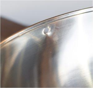 el yapımı paslanmaz çelik kase süsü