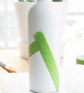 el yapımı şişe vazo