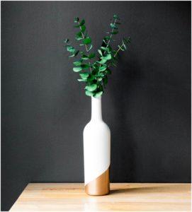 el yapımı dekoratif şişe vazo