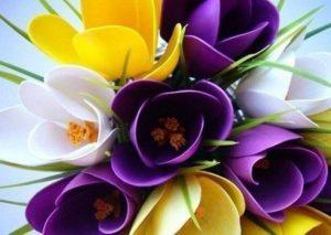 kaşıklardan el yapımı çiçek buketi