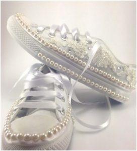 el yapımı düğün ayakkabısı
