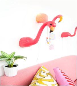 flamingo duvar lambası