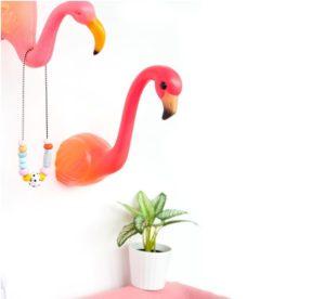 el yapımı flamingo duvar lambası