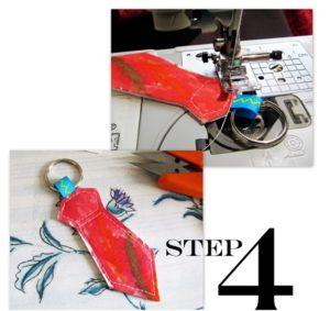 el yapımı kravat şeklinde anahtarlık