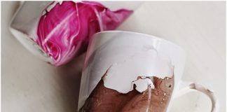 sulu boya ile el yapımı kupa bardak yapımı
